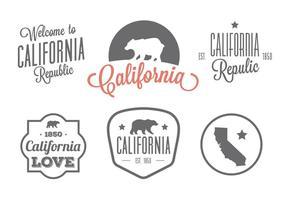 Etiquetas vectoriales tipográficas