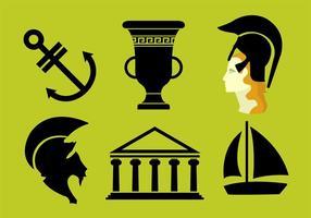 Athena Griekse Godin Vectors