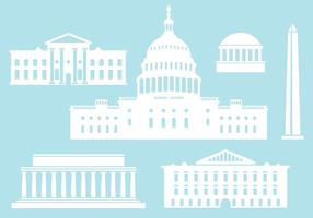 Buildings from US Capital City. vector