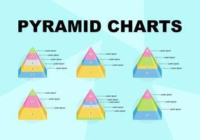 Gráficos piramidais editáveis gráficos vetoriais