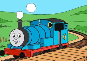 Thomas The Train Riding Vector