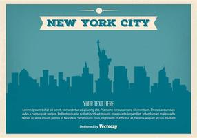 Vintage Illustratie van New York Skyline