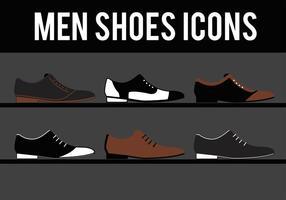 Vettori di scarpe eleganti da uomo