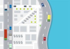 Vecteur de carte aérienne de voiture