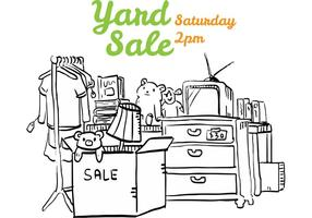 Yard Sale Flyer Illustration