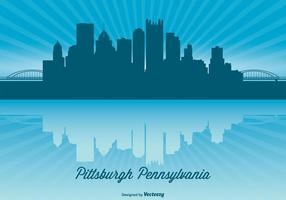 Pittsburgh Skyline Illustratie