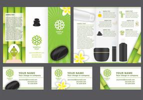 Spa Tri Fold Folleto Vector Plantilla