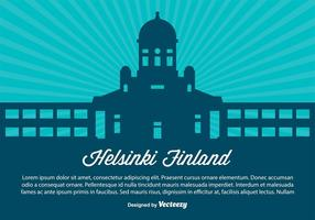 Helsingfors Finland Skyline Illustration