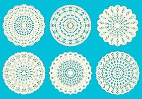 Crochet Lace Vector Circles