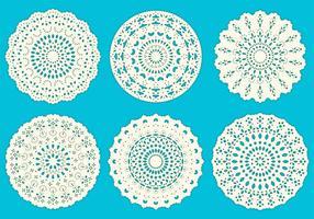 Crochet círculos vector de encaje