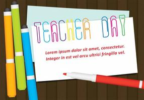 Vektor Lehrer Tag Papierklammern
