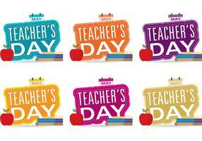 Vecteurs de jour enseignant