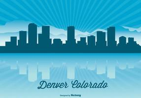 Illustration de l'horloge de denver colorado