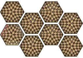 Drie spelers schakenbewegingen