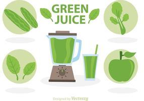 Vectores de jugo verde