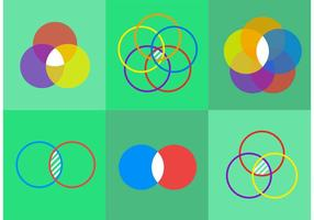 Venn Diagram Vector Icons