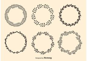 Laurel Circle Wreaths vector