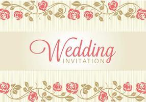 Invitación de la tarjeta de boda