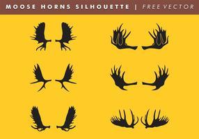 Moose Horns Silhouette Vector Free