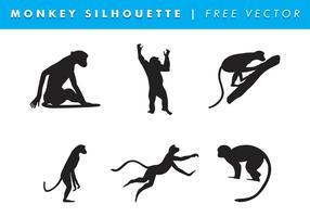 Monkey Silhouette Vector Free