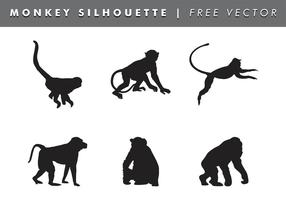 Monkey Silhouette Vector Free
