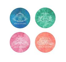 Gratis Yoga Logo Vector Set
