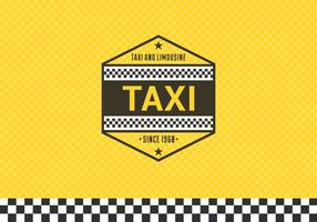 Taxi Label With Checkered Background vector