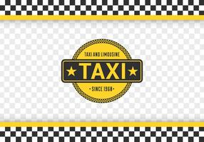 Taxi Checkerboard Vector Background