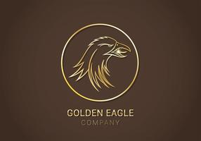 Gratis Golden Eagle Vector Logo