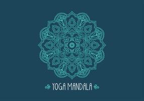 Gratis Etnisk Fractal Mandala Vector