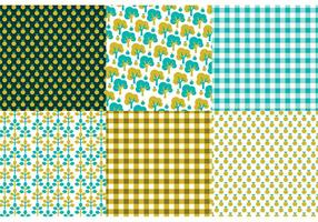 Retro Nature Pattern Set