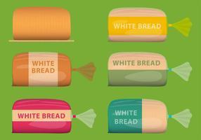 Paquetes de pan blanco de vectores