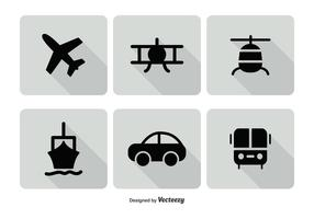 Transporation Icon Set