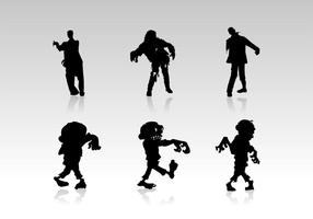 Zombie Silhouetten Vectoren Gratis Download
