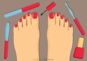 Pedicure Procedure Vector
