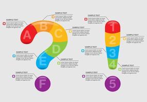 Frage und Ausruf Infografiken