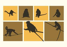 Olika Monkeys Silhouettes Vector Free
