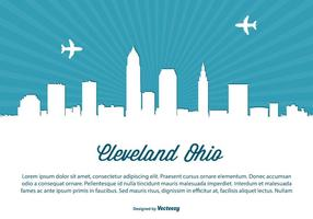 Cleveland Ohio skyline illustration