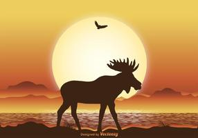 Wild Moose Illustration