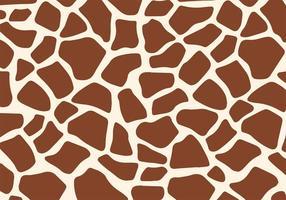 Vector libre de la impresión de la jirafa