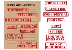 Top Secret & Confidential Stamp Vectors