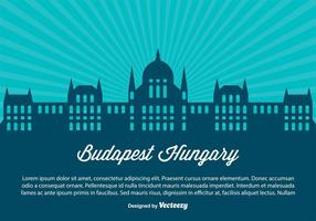 Budapest Ungern Skyline Illustration