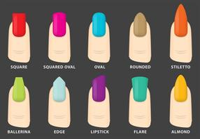 Vector Nails Shapes