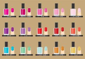 Vector Nail Polish Colors