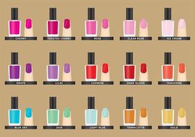 Vector Colores de esmalte de uñas
