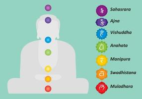 Vecteur bouddha chakras