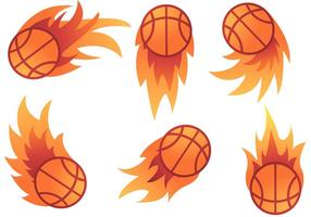 Vecteurs Basketball on Fire