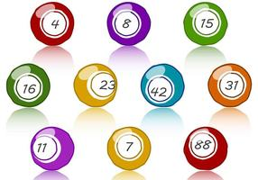 Lotto Balls Vectors