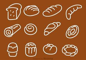 Hand Drawn Bread Vector Ikoner