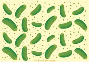 Vector de motif de concombre frais